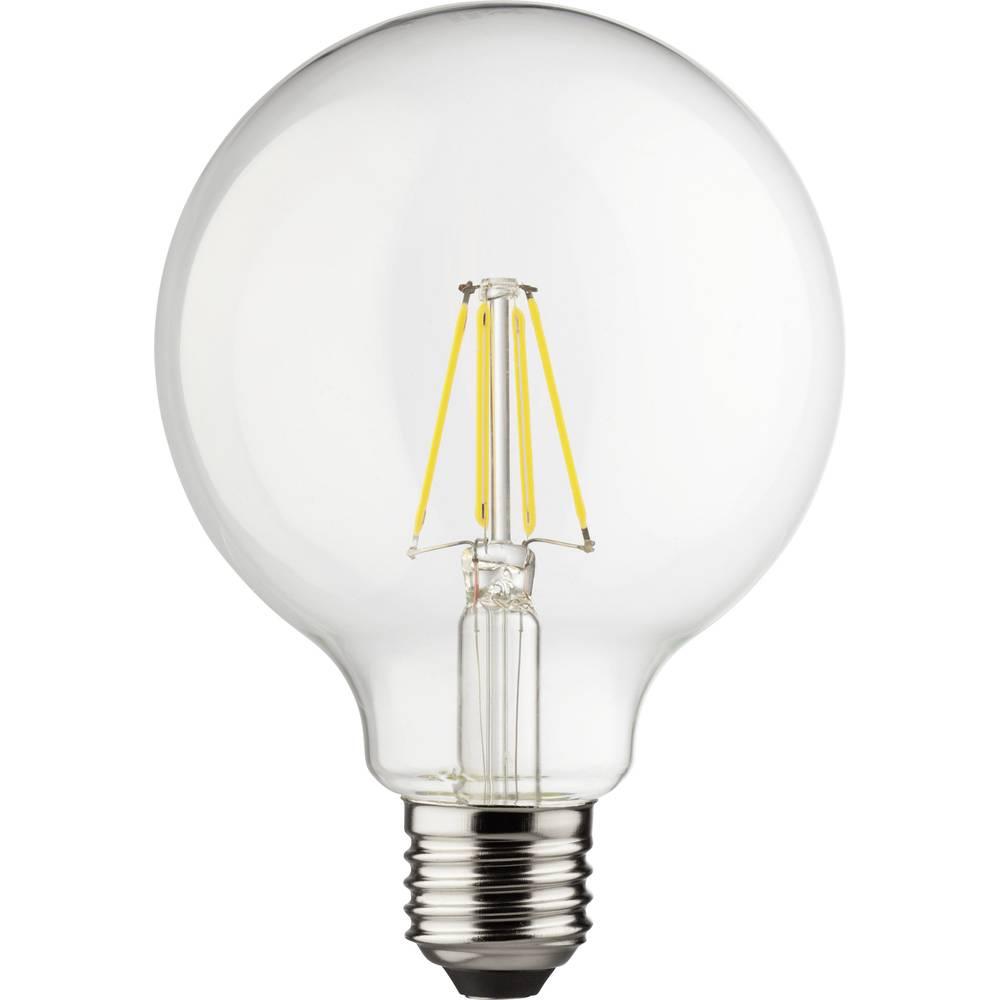 LED (eno-barvna) Müller luč 230 V E27 8 W = 75 W topla-bela EEK: A++ v obliki krogle (x D) 95 mm x 140 mm z možnostjo zatemnitve