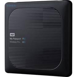 Brezžični-trdi disk 2 TB Western Digital My Passport™ Wireless Pro črne barve WDBP2P0020BBK-EESN vklj. z SD-adapterjem