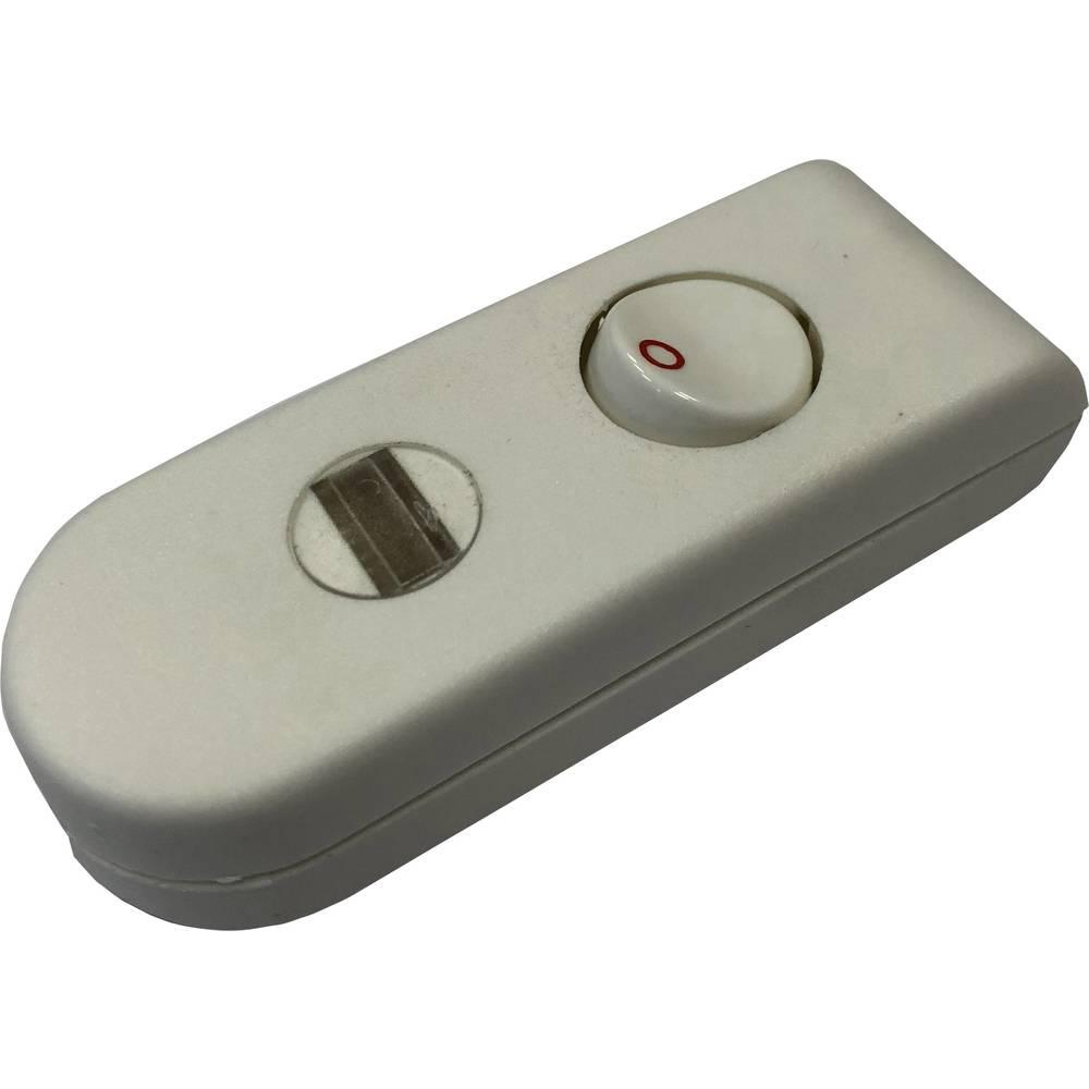 Stikalo za kabel bele barve 1 x izhod/vhod 2 A interBär 8093-108.01 1 kos