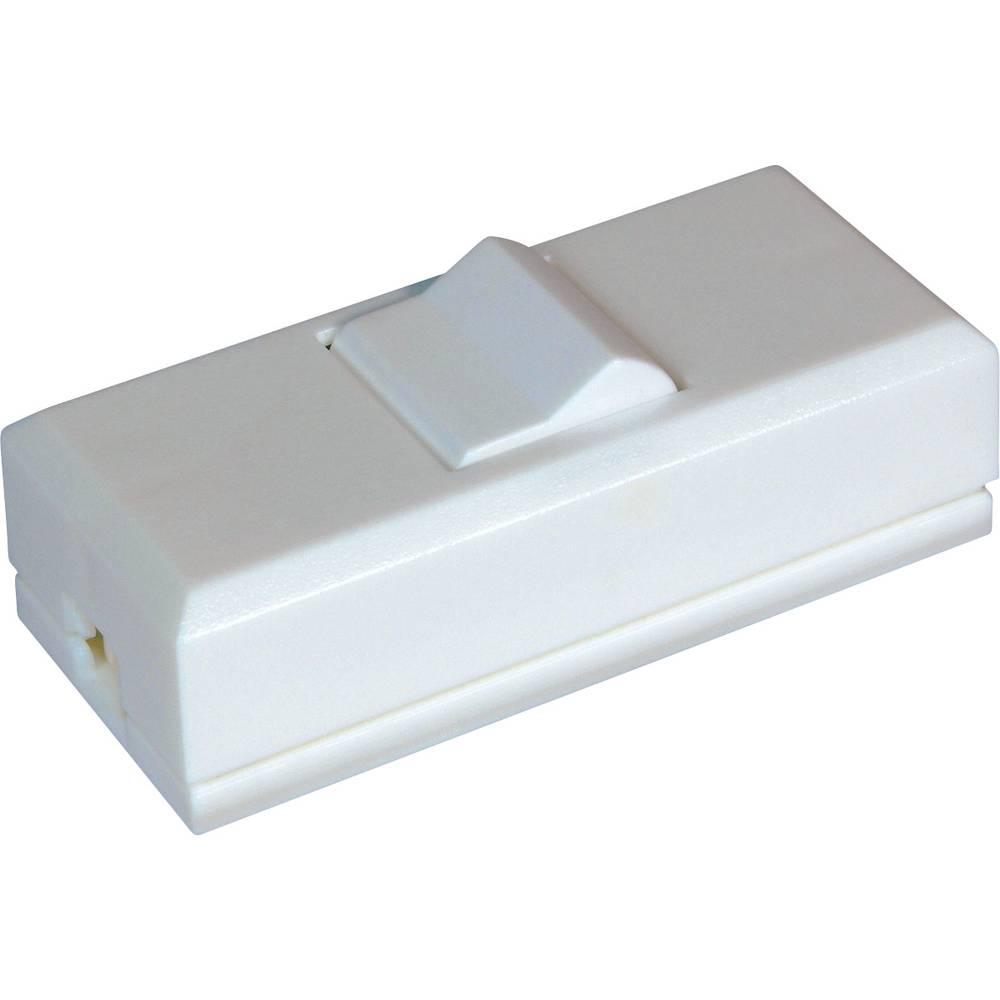 Stikalo za kabel bele barve, bele barve 1 x izhod/vhod 2 A interBär 8075-008.01 1 kos
