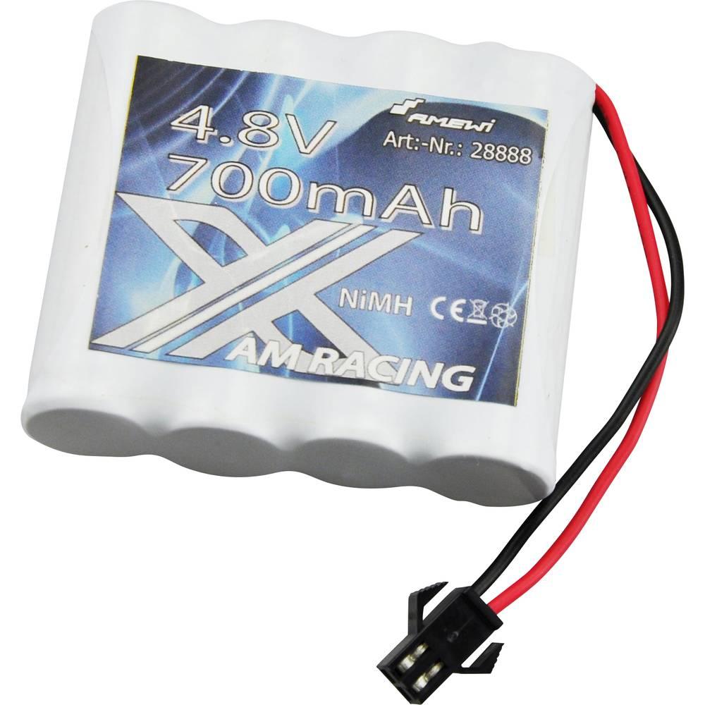 Modelarski akumulatorski komplet (NiMh) 4.8 V 600 mAh Amewi Micro-Car-vtičnica