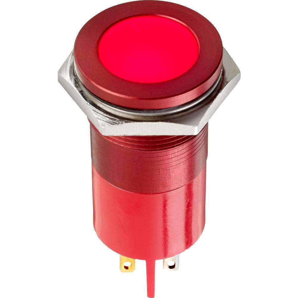 LED-signallampe APEM Q22F1AGXXSG110E 110 V/AC 5 mA Grøn