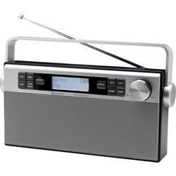 DAB+ Prenosni radio SoinMaster DAB650SI AUX, DAB+, UKV polnilni srebrna, črna