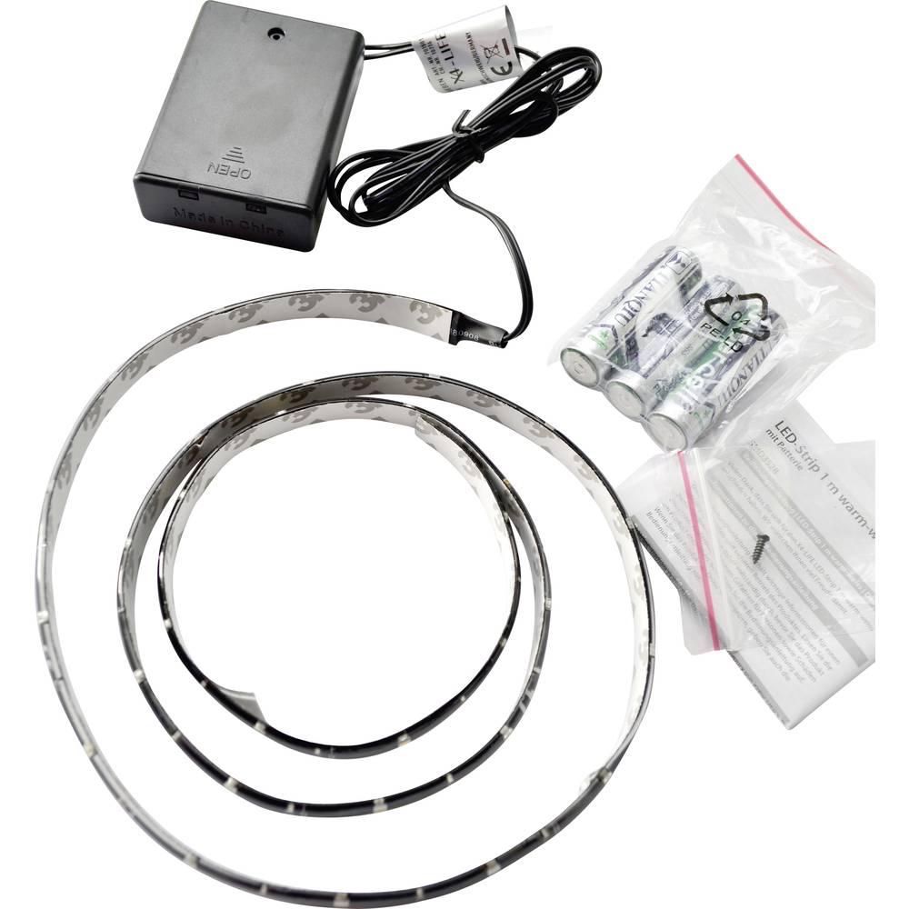 LED-båndsæt Med batteriboks X4-LIFE 701501 4.5 V 100 cm Varm hvid