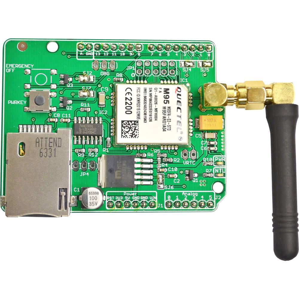 Udvidelsesmodul SOS Electronic ARDUINO_M95FA-GSM/GPRS