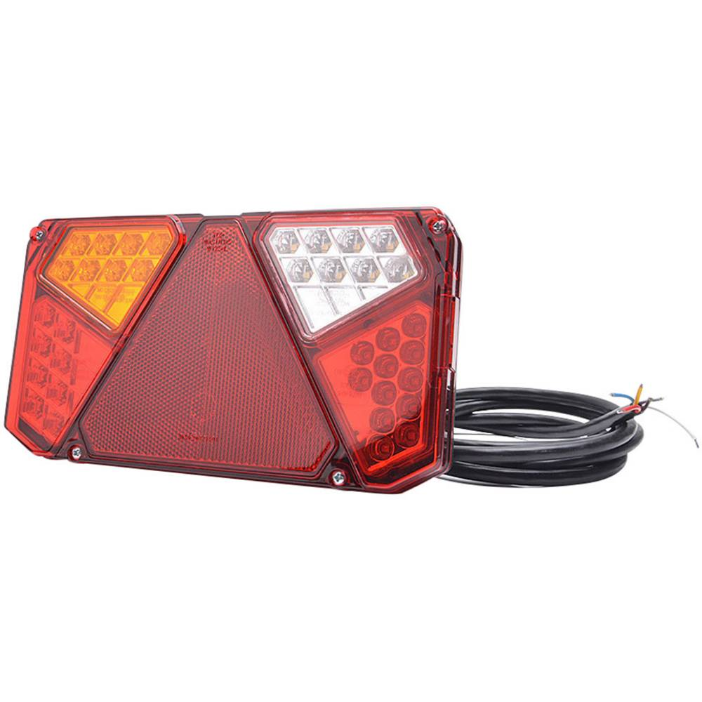 LED Anhænger-baglygte Blinklys, Bremselys, Baglygte , Reflektor , Tågebaglygte , Baklys benstre, bagved 12 V, 24 V SecoRüt Trans
