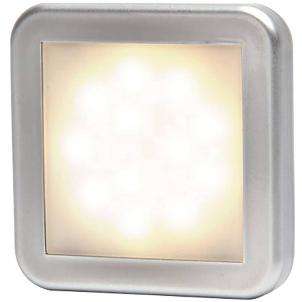 LED Omrids-markeringslygte Positionslys foran 12 V, 24 V Hvid, Sølv SecoRüt