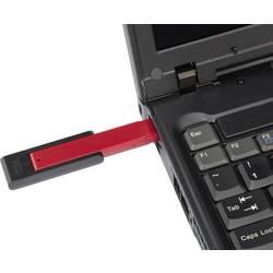 USB blokator portov vkl. 20x USB-nastavkov črne barve/rdeče Renkforce