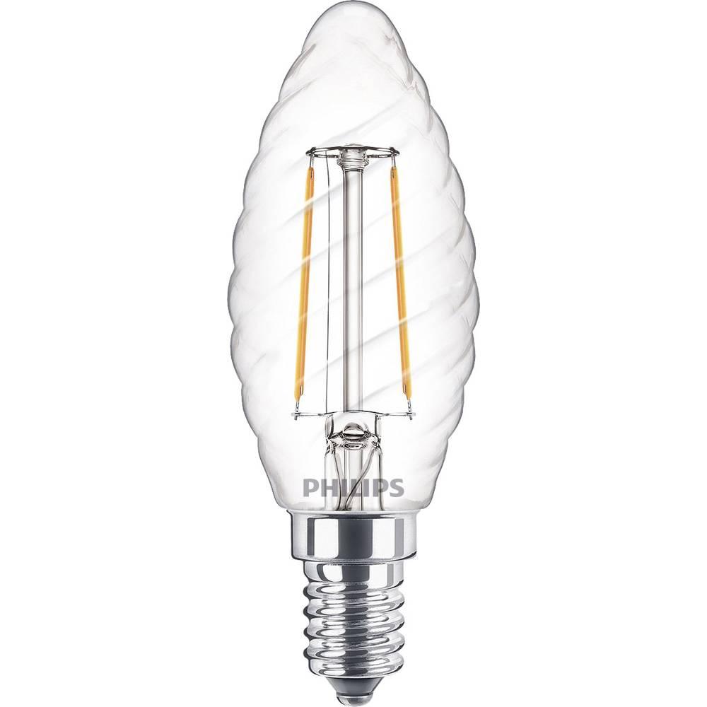 LED žarnica E14 oblika sveče 2 W = 25 W topla bela (premer x D) 35 mm x 97 mm energ. razred: A++ Philips Lighting žarilna nitka