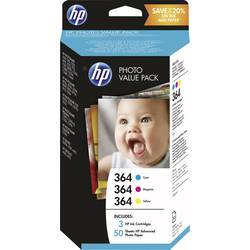 HP Črnilo 364 Photo Value Pack Original kombiniran komplet cyan, magenta, rumena T9D88EE