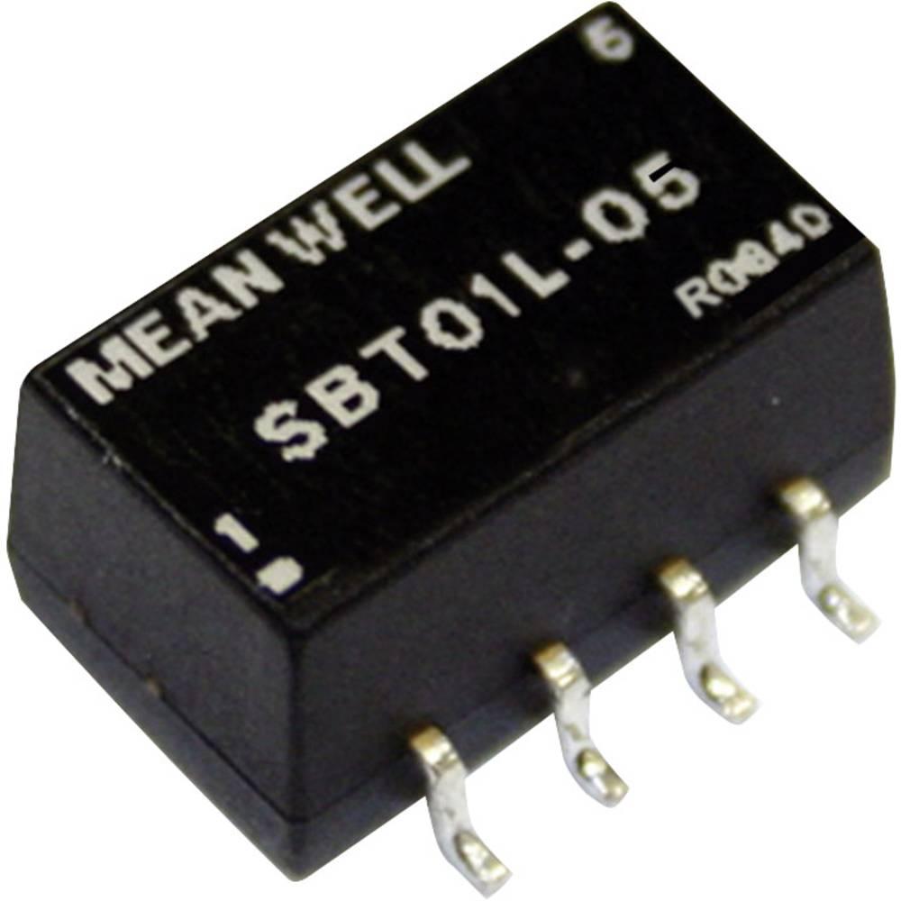 DC/DC pretvornik SMD Mean Well impulzni 12 V/DC 5 V/DC 200 mA 1 W št. izhodov: 1 x