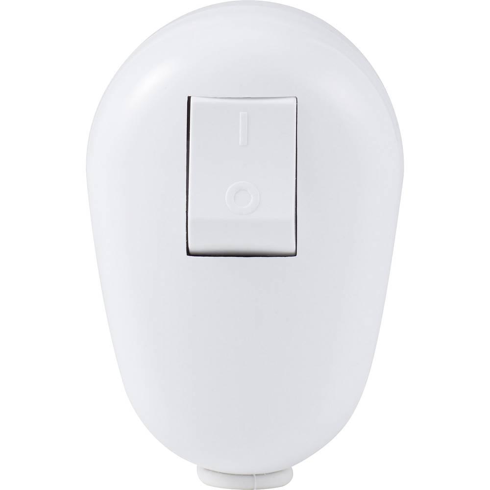 Zaštitni kutni utikač- plastičan s prekidačem 230 V bijeli IP20 Basetech