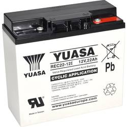 Svinčeni akumulator 12 V 22 Ah Yuasa REC22-12 YUAREC2212 Svinčevo-koprenast (Š x V x G) 181 x 167 x 76 mm M5-vijačni priklop Niz