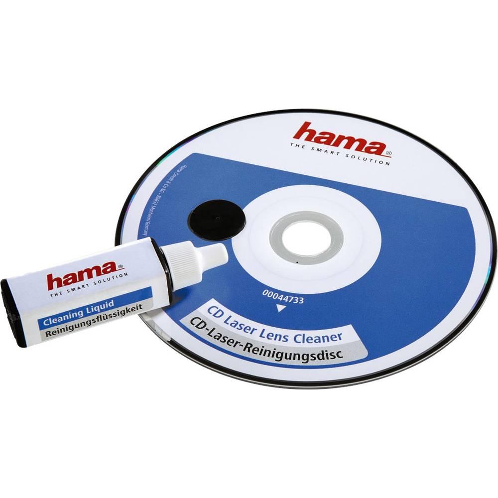 CD za čiščenje laserske leče s čistilno tekočino, posamično pakirano Hama 00044733 1 kos
