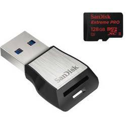 microSDHC-kartica 64 GB SanDisk Extreme PRO® Class 10, UHS-II, UHS-Class 3 vklj. z USB-kartičnim bralnikom