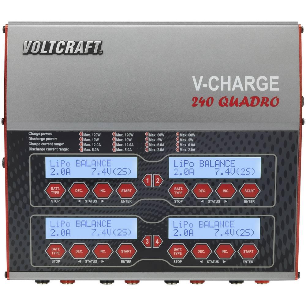 Multifunkcijska polnilna naprava za modelarje 12 V, 230 V 12 A VOLTCRAFT V-Charge 240 Quadro LiPo, LiFePO, LiIon, LiHV, NiCd, Ni