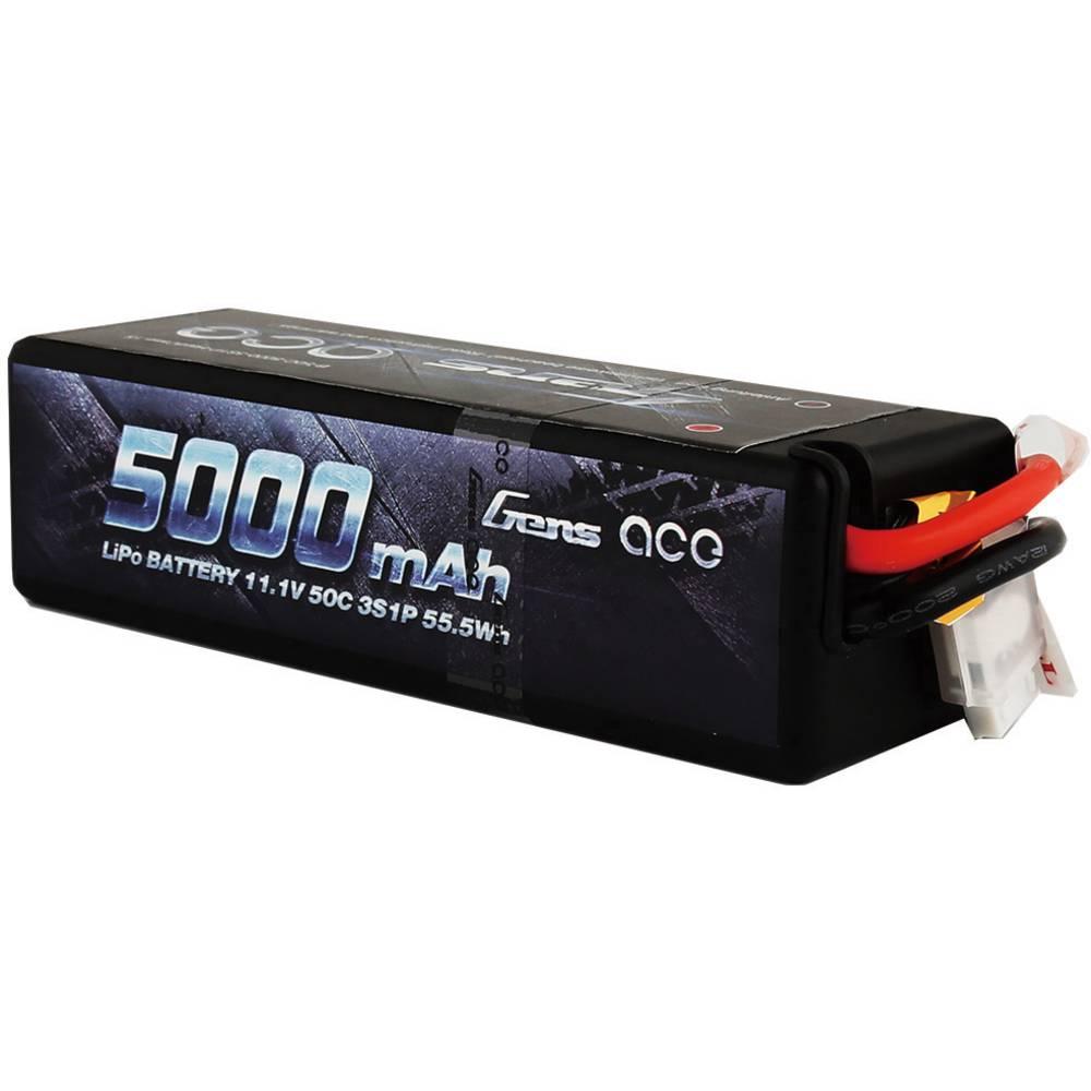 Modelarski akumulatorski komplet (LiPo) 11.1 V 5000 mAh 50 C Gens ace Hardcase T-vtični sistem
