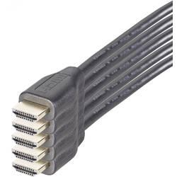 HDMI povezovalni kabel [1x HDMI vtič - 1x HDMI vtič] 1.50 m črne barve SpeaKa Professional 5 kosov