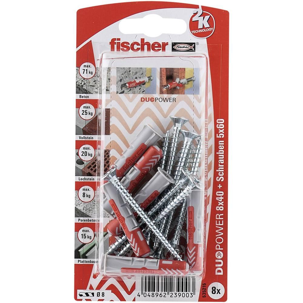 Set stenskih vložkov z vijaki Fischer DUOPOWER 40 mm 535215 1 set