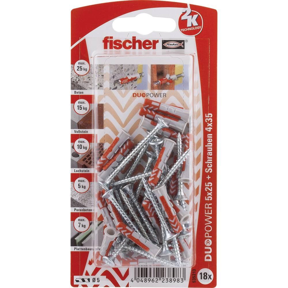 Set stenskih vložkov z vijaki Fischer DUOPOWER 25 mm 535213 1 set