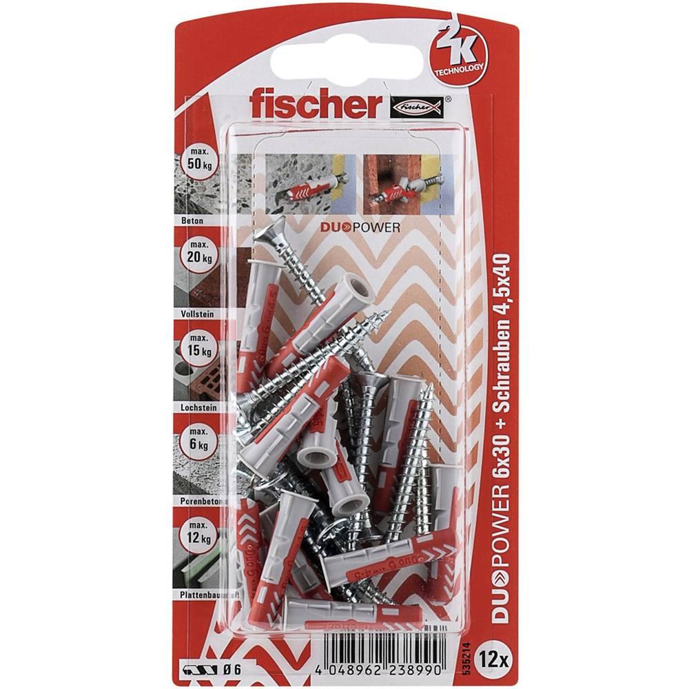 Set stenskih vložkov z vijaki Fischer DUOPOWER 30 mm 535214 1 set