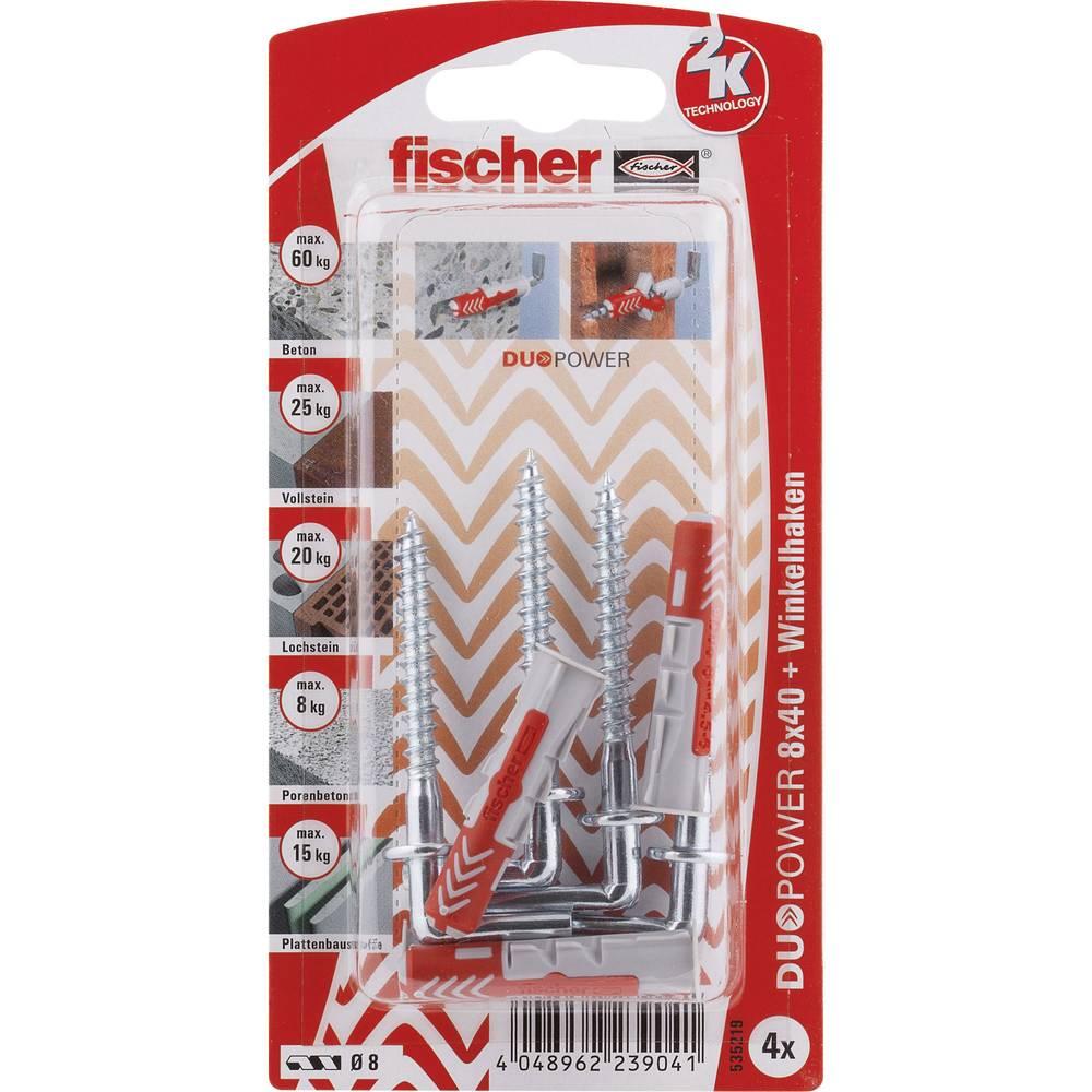 Set stenskih vložkov z vijaki Fischer DUOPOWER 40 mm 535219 1 set