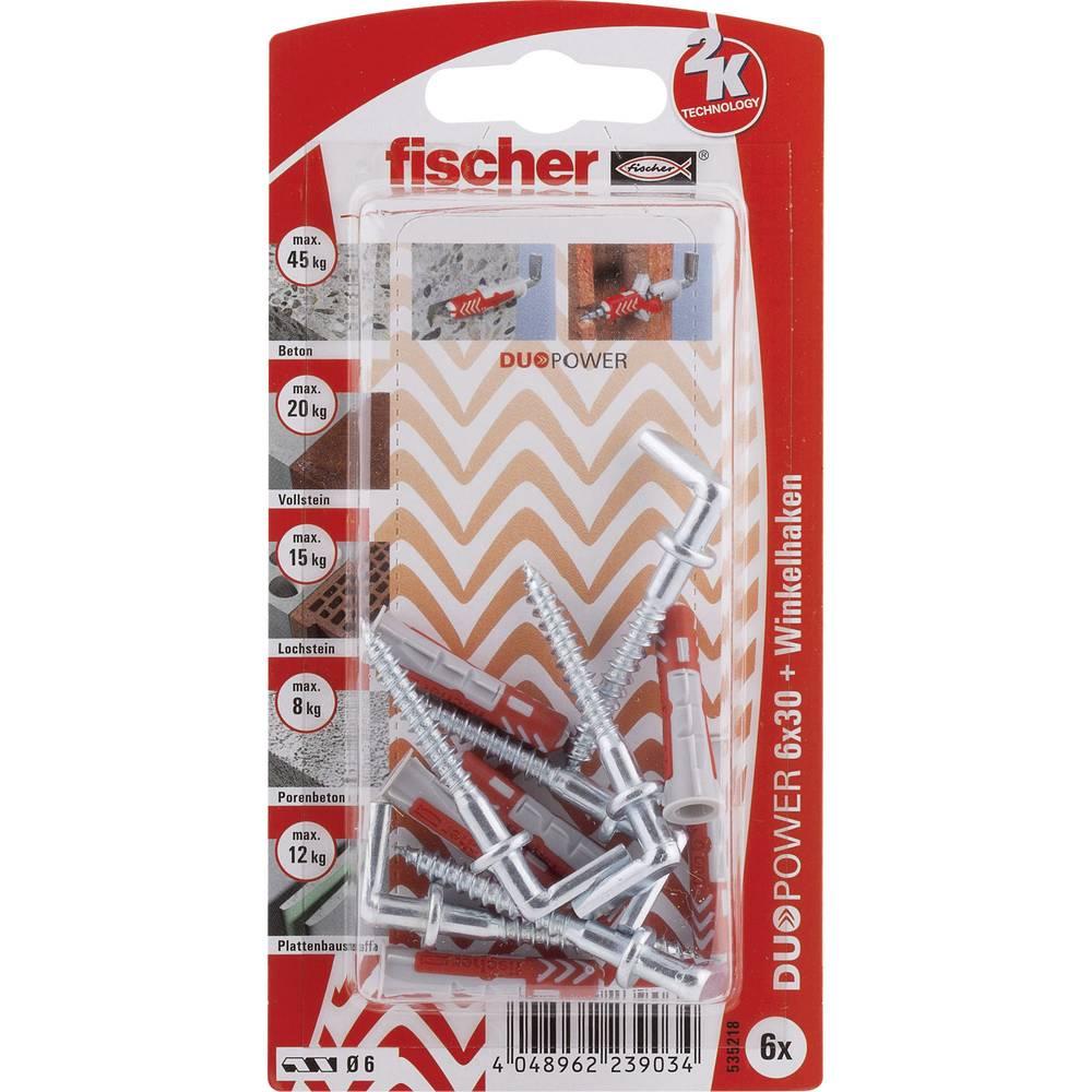 Set stenskih vložkov z vijaki Fischer DUOPOWER 30 mm 535218 1 set