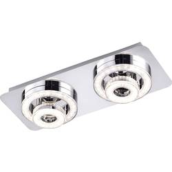 LeuchtenDirekt Tim 14521-17 LED stropna svetilka EEK: LED (A++ - E) 12 W Topla bela Krom