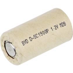 Specialbatteri laddbart Sub-C Högvärdigt , Flat-Top NiCd BYD 1.2 V 1900 mAh 1 st