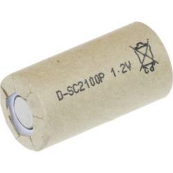 Specialbatteri laddbart Sub-C Högvärdigt , Flat-Top NiCd BYD 1.2 V 2100 mAh 1 st