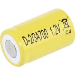 Posebni akumulator 2/3 A Flat-Top NiCd Mexcel D-2/3A700 1.2 V 700 mAh