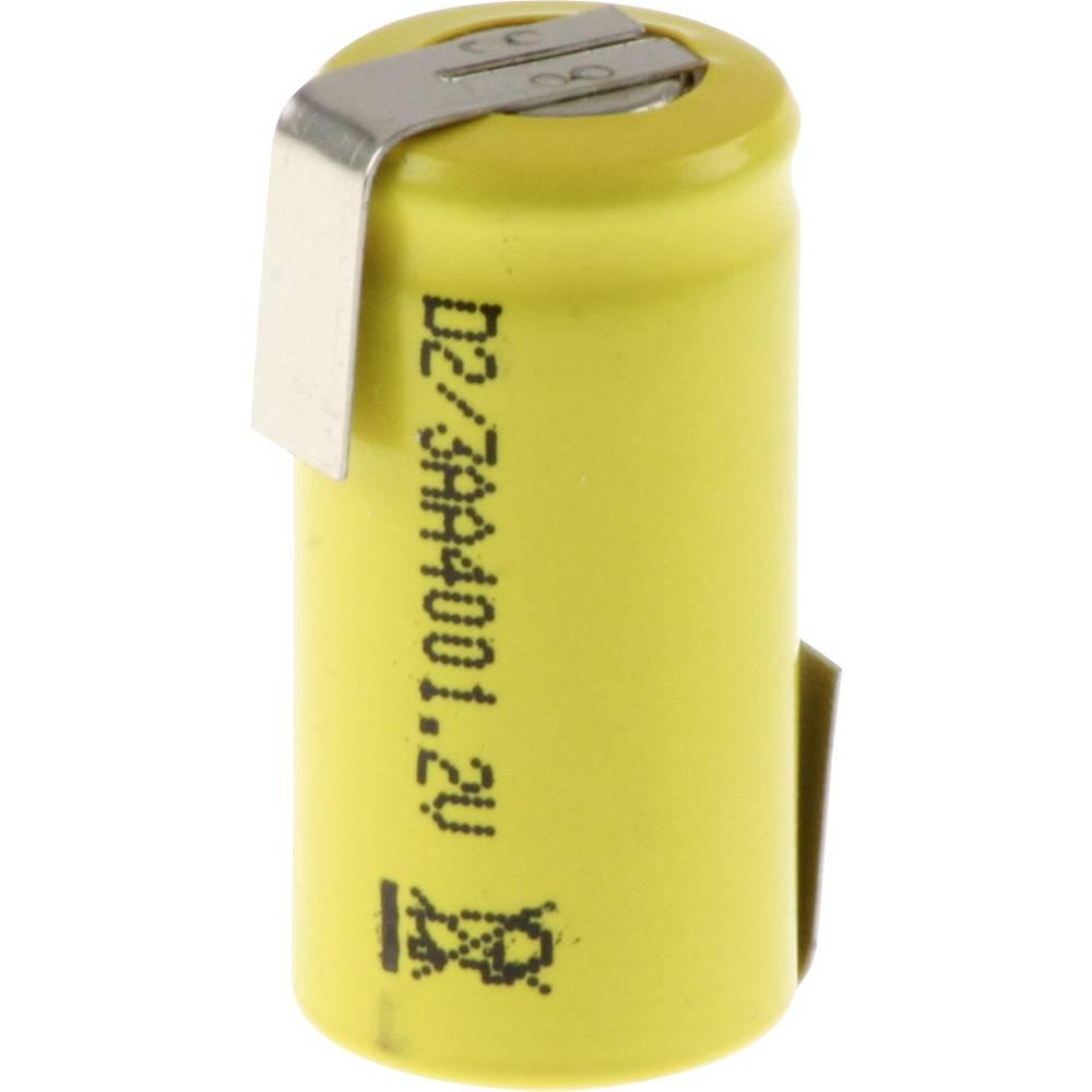 Posebni akumulator 2/3 AA Z-spajkalni rep, Flat-Top NiCd Mexcel D-2/3AA400 1.2 V 400 mAh