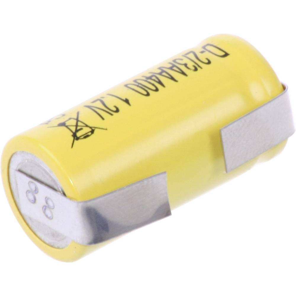Posebni akumulator 2/3 AA U-spajkalni rep, Flat-Top NiCd Mexcel D-2/3AA400 1.2 V 400 mAh