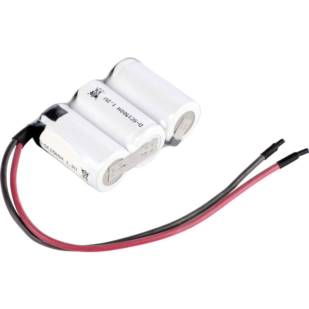 aku paket 3xsub-c primeren za visoke temperature, kabel, flat-top nicd Mexcel Reihe F1x3 3.6 V 1500 mAh