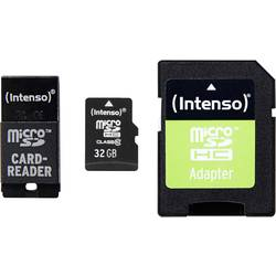 microSDHC-kartica 32 GB Intenso Adapter komplet Class 10 vklj. SD-Adapter, USB-čitalnik kartic