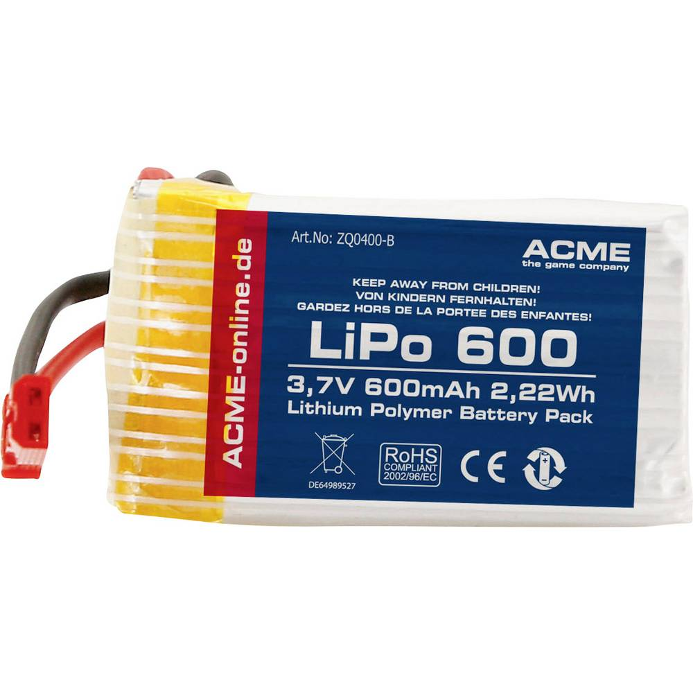 ACME Multikopter-akumulatorski paket Primerno za: ACME zoopa Q400 Hunter
