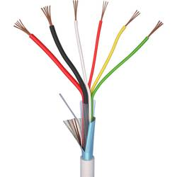 Kabel za alarm LiYY 4 x 0.22 mm + 2 x 0.5 mm bele barve ELAN 25041 meterski