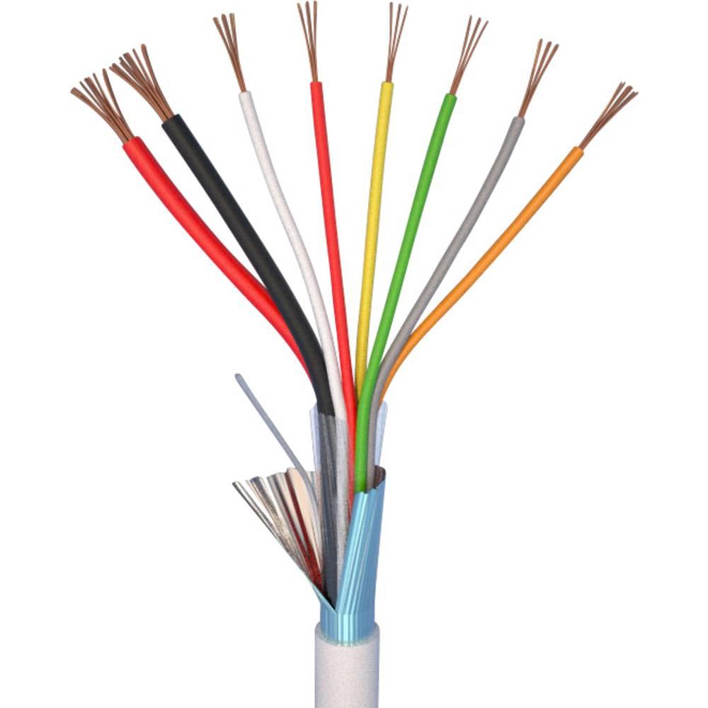 alarm kabel ELAN 27061 Hvid Metervare