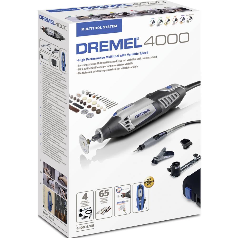 Večnamensko orodje, vklj. dodatna oprema, kovček 72-delni komplet 175 W Dremel 4000-4/65 EZ+4486+628 F0134000LT