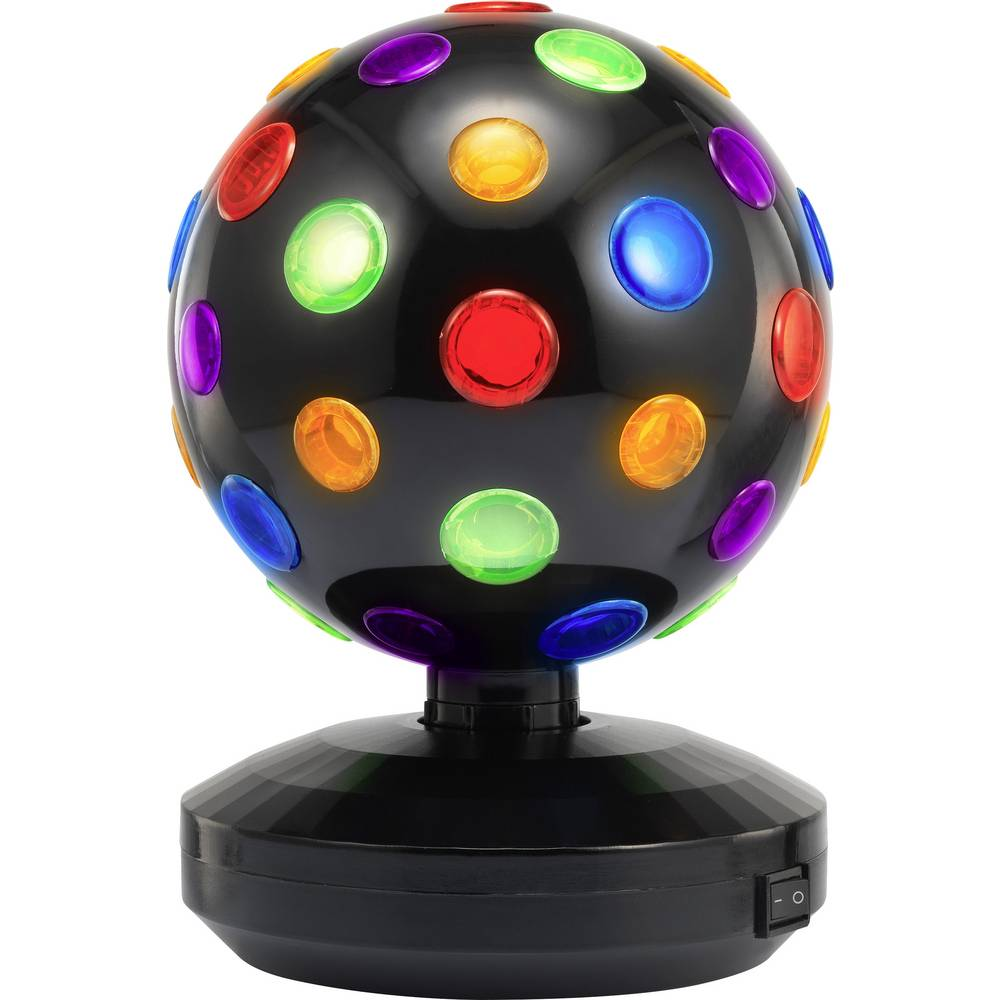 LED Fest lyseffekter DISCOBALL 18,5 CM Multicolor Sort