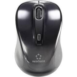 Bluetooth miška, optična Renkforce B1401E s koleščkom, črna