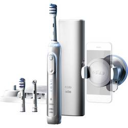 Eltandborste Oral-B Genius 8000 TriZone Vit, Silver