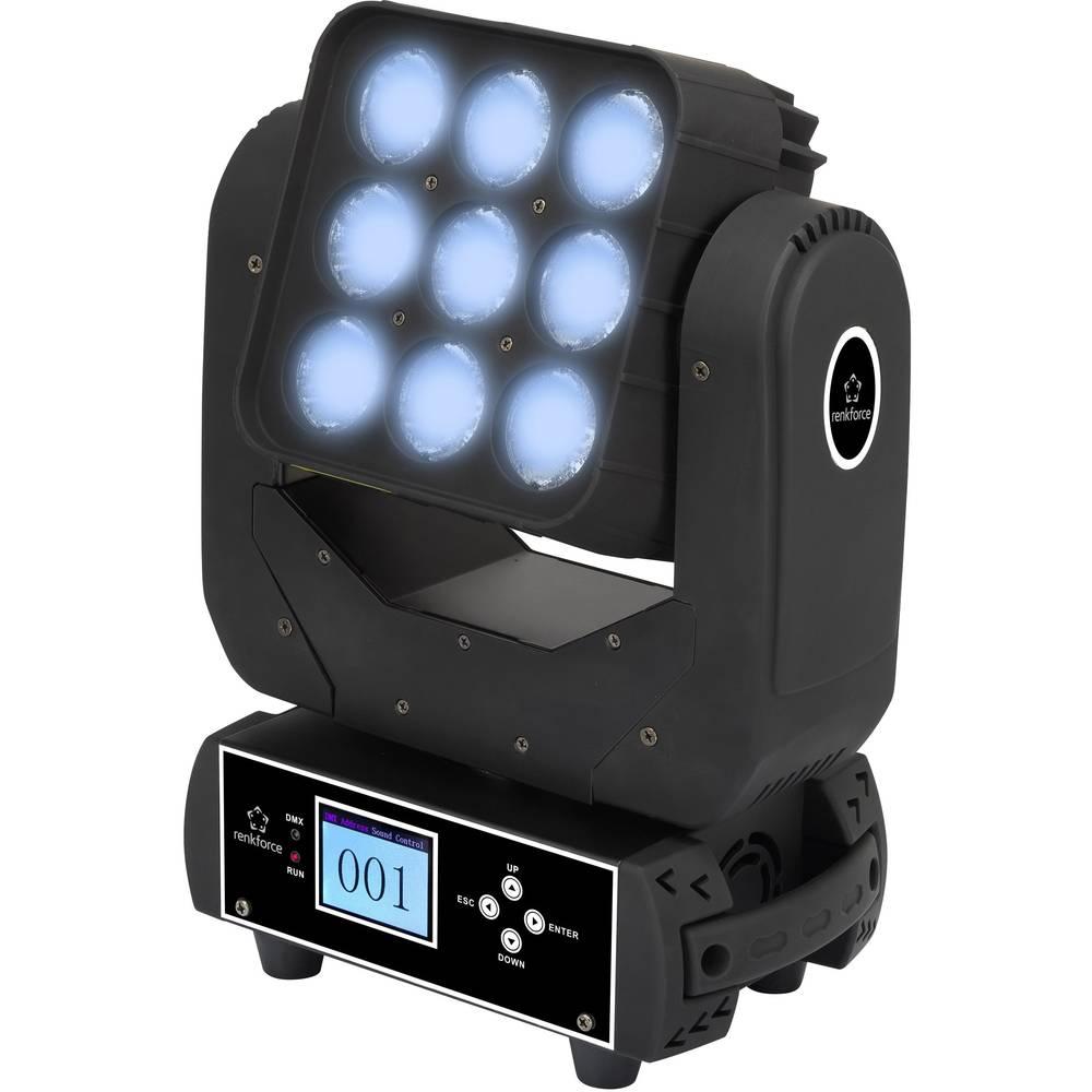 LED vrtljiva glava Renkforce MATRIX BEAM št. LED diod:9 x 12 W