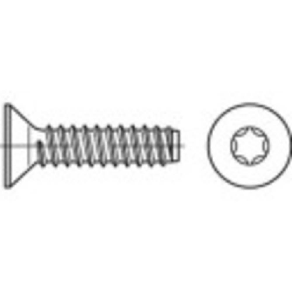 Försänkta plåtskruvar 4.8 mm 80 mm T-profil ISO 14586 Stål galvaniskt förzinkad 250 st TOOLCRAFT 149876