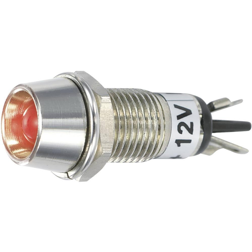 LED signalna lučka, rdeča 12 V/DC SCI R9-115L 12 V RED