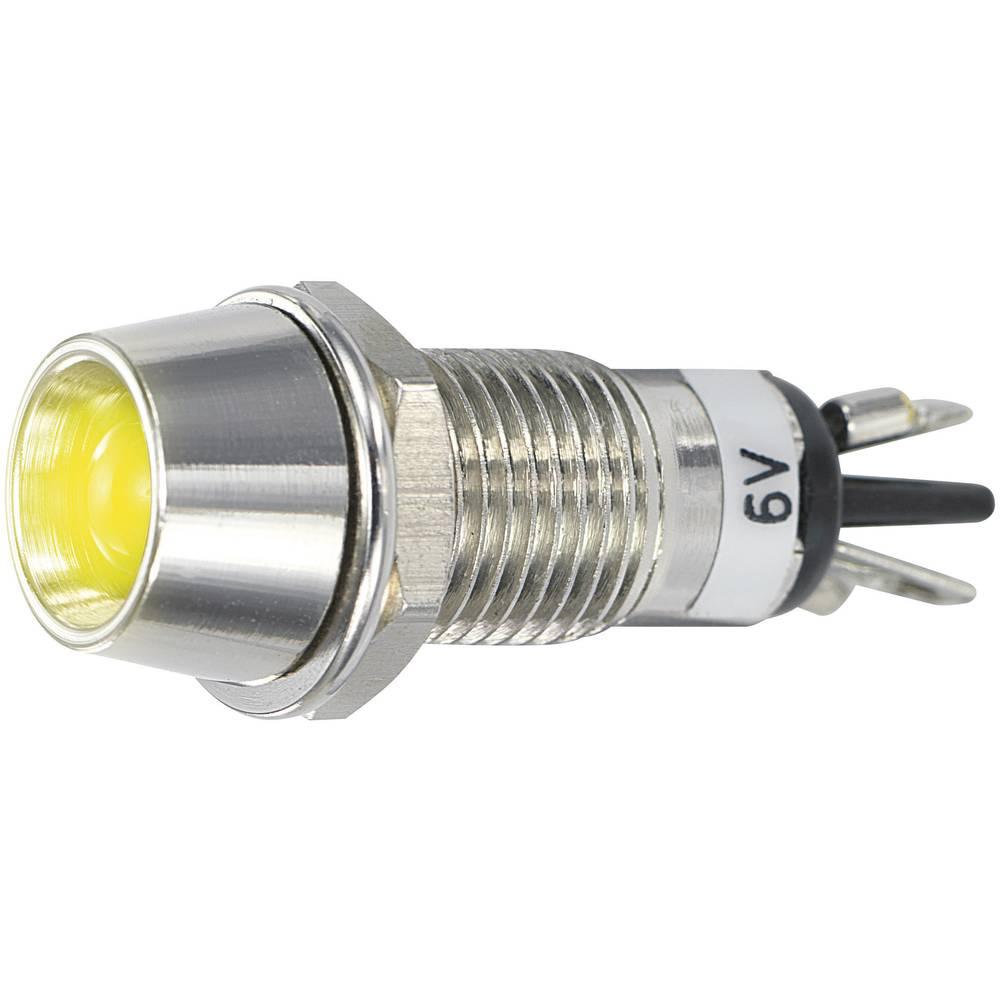 LED signalna lučka, rumena 6 V/DC SCI R9-115L 6 V YELLOW