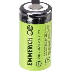 Posebna akumulatorska baterija Sub-C U-spajkalni priključek, odporna na visoki tok NiMH Emmerich SuB-C ULF 1.2 V 2900 mAh