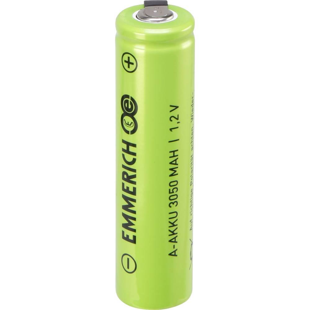 Posebna akumulatorska baterija A U-spajkalni priključek, odporna na visoki tok NiMH Emmerich A ULF 1.2 V 3050 mAh