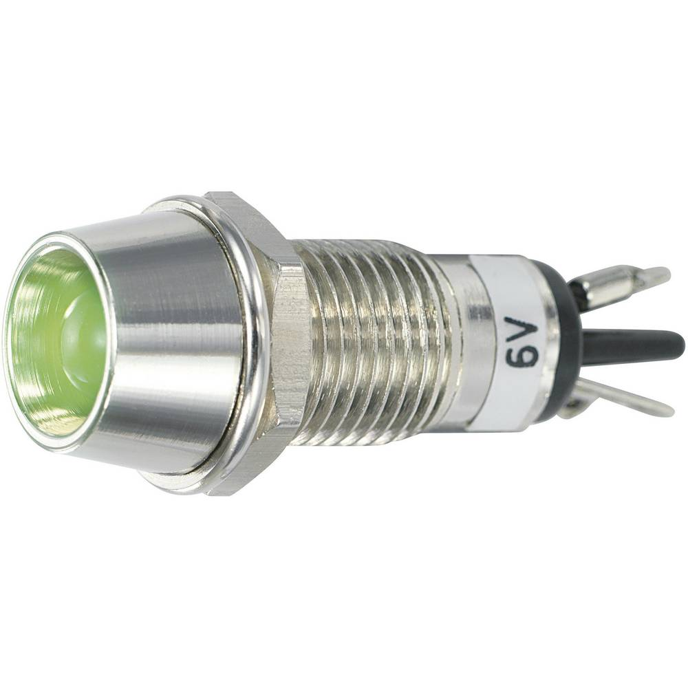 LED signalna lučka, zelena 6 V/DC SCI R9-115L 6 V GREEN