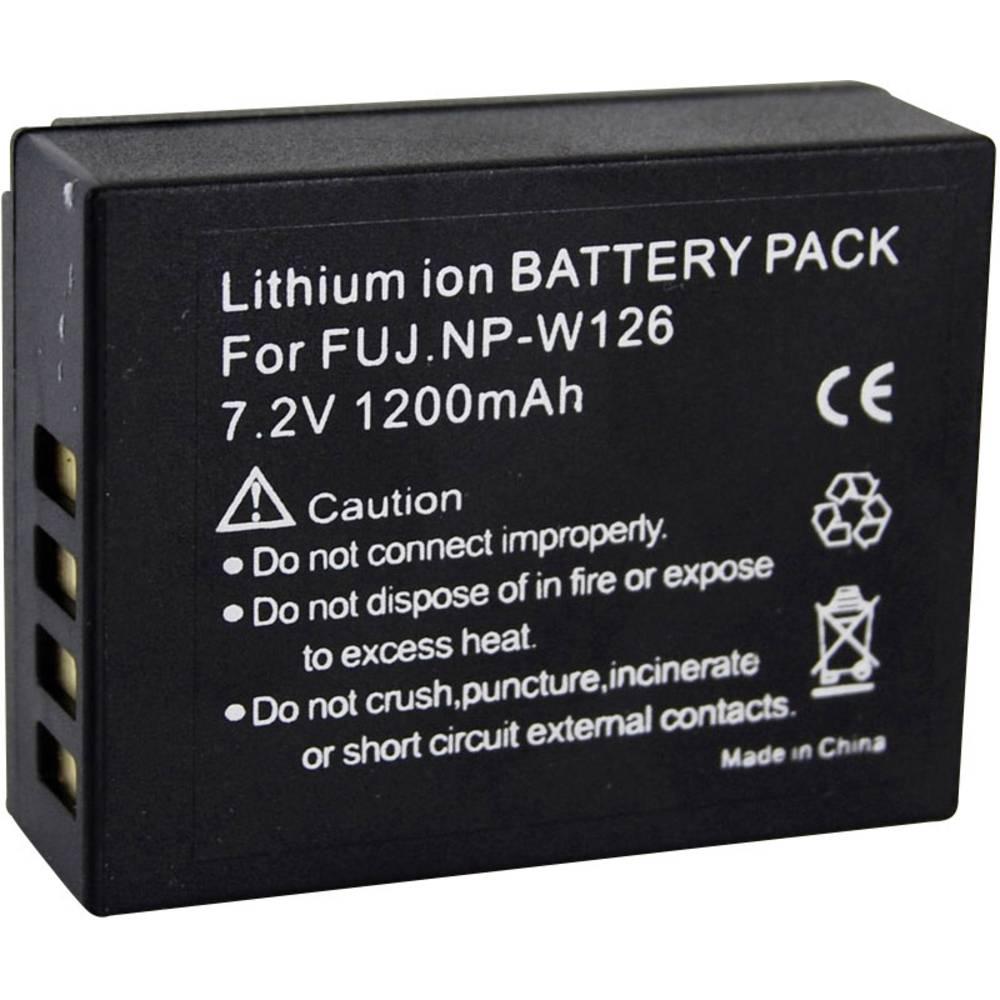 Akumulator za kamero Conrad energy nadomestek za originalni akumulator NP-W126 7.4 V 1200 mAh